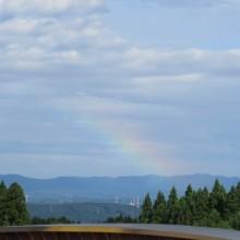 わー、虹だあ。